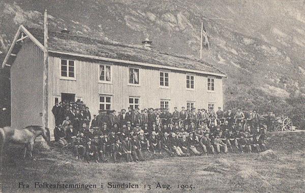 Fra Folkeafstemningen i Sundalen 13 Aug. 1905.