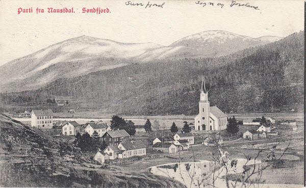 Parti fra Naustdal. Søndfjord.
