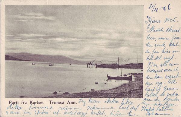 Parti fra Karlsø. Tromsø Amt.