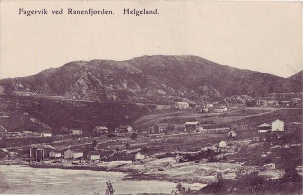 Fagervik ved Ranenfjorden. Helgeland.