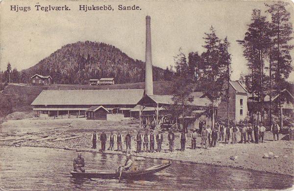 Hjugs Teglværk. Hjuksebö, Sande.