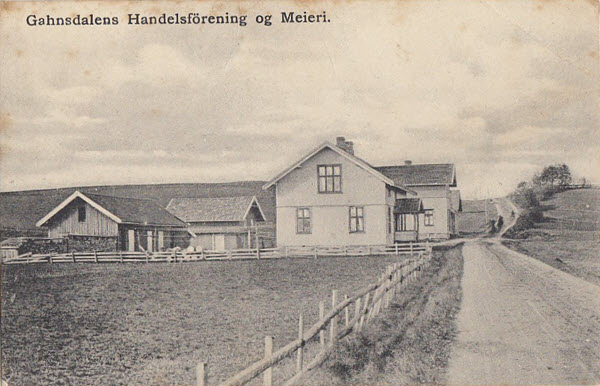 Gahnsdalens Handelsförening og Meieri.