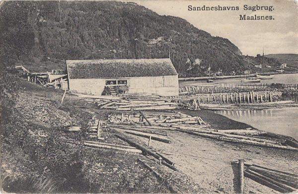 Sandneshavns Sagbrug. Maalsnes.