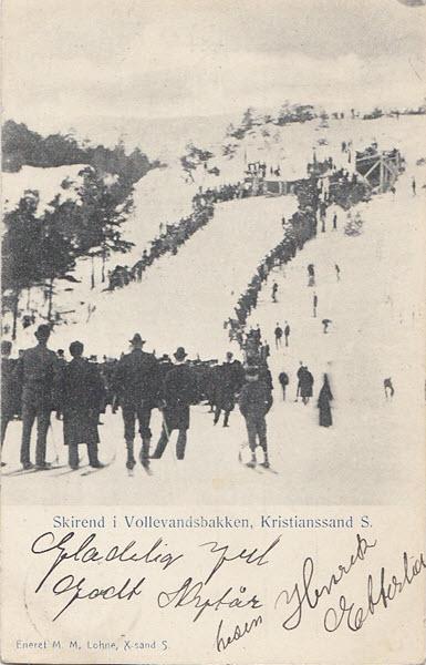 Skirend i Vollevandsbakken, Kristianssand S.