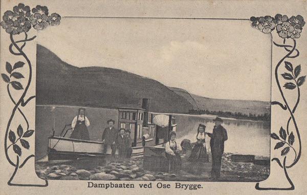 Dampbaaten ved Ose Brygge.