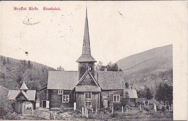 Bruflat Kirke. Etnedalen.