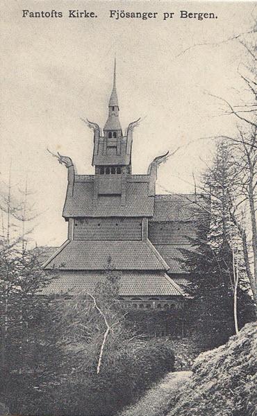 Fantofts Kirke. Fjösanger pr Bergen.