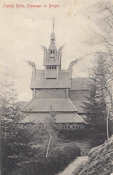 Fantoft Kirke, Fjøsanger pr. Bergen