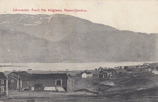 Lihovedet. Parti fra Hugløen. Ranenfjorden.