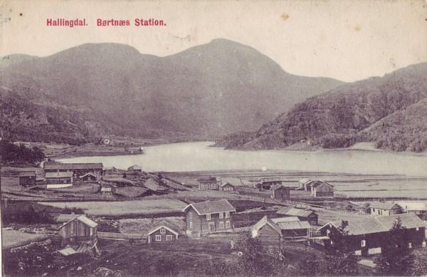 Hallingdal. Børtnæs Station.