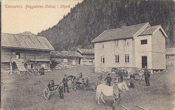 Telemarken. Heggestølen Station i Siljord