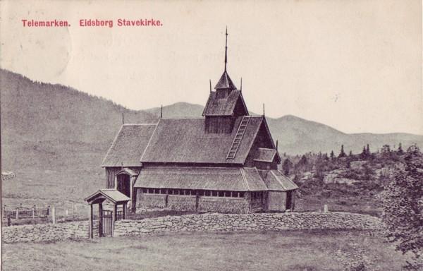Telemarken. Eidsborg Stavekirke.