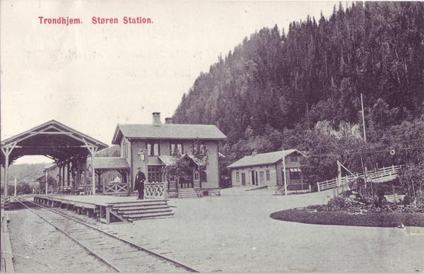 Trondhjem. Støren Station.