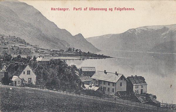 Hardanger. Parti af Ullensvang og Folgefonnen.