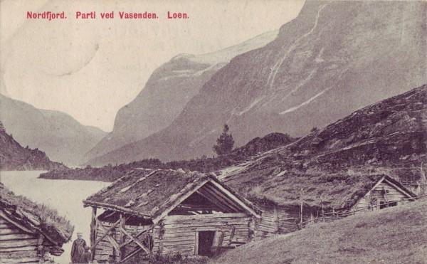 Nordfjord. Parti ved Vasenden. Loen.