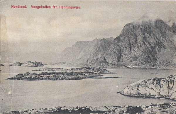 Nordland. Vaagekollen fra Henningsvær.