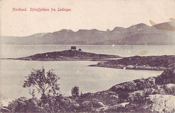 Nordland. Ofotsfjeldene fra Lødingen