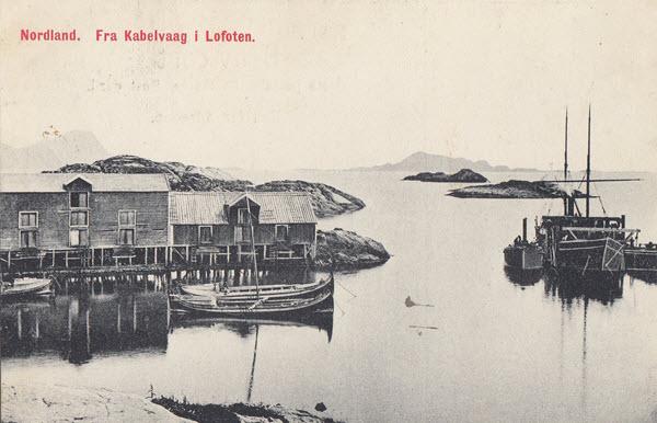 Nordland. Fra Kabelvaag i Lofoten.