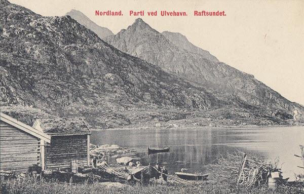 Nordland. Parti ved Ulvehavn. Raftsundet.