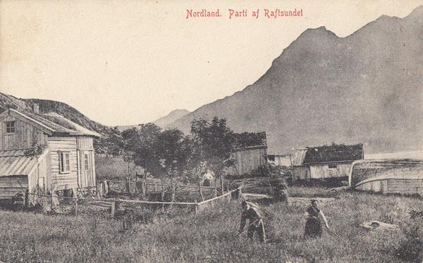 Nordland.  Parti af Raftsundet
