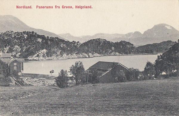 Nordland. Panorama fra Grønø, Helgeland.