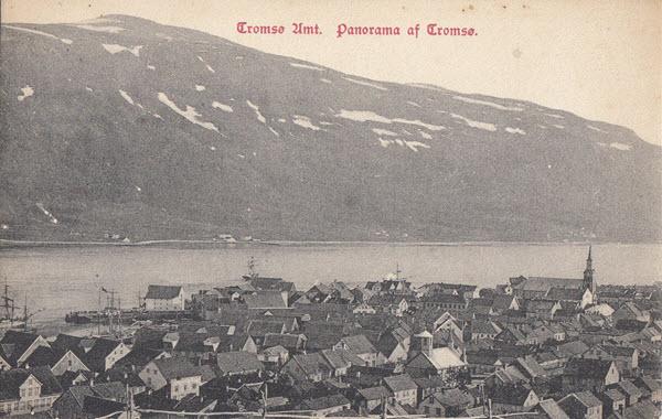 Tromsø Amt. Panorama af Tromsø.