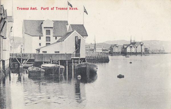Tromsø Amt. Parti af Tromsø Havn.