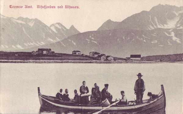 Tromsø Amt. Ulfsfjorden ved Ulfsnæs.