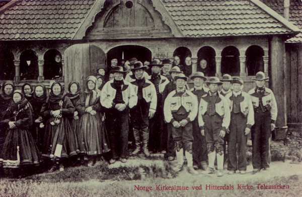 Norge Kirkealmue ved Hitterdals Kirke Telemarken