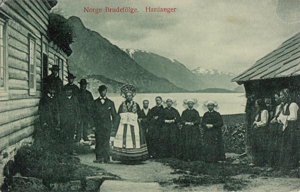 Norge Brudefölge. Hardanger