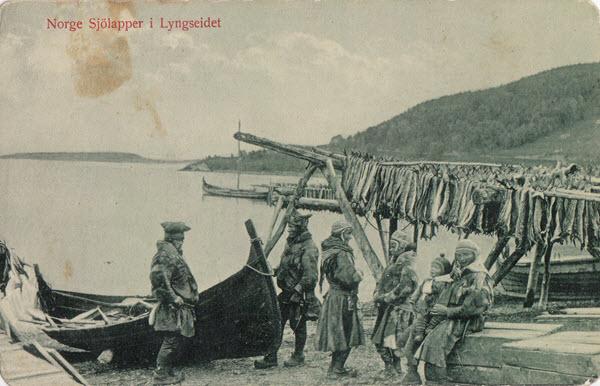 Norge. Sjölapper i Lyngseidet.