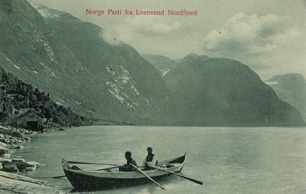Norge Parti fra Loenvand. Nordfjord.