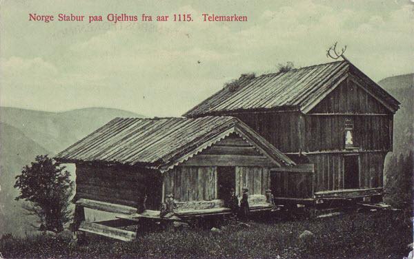 Norge Stabur paa Gjelhus fra aar 1115. Telemarken
