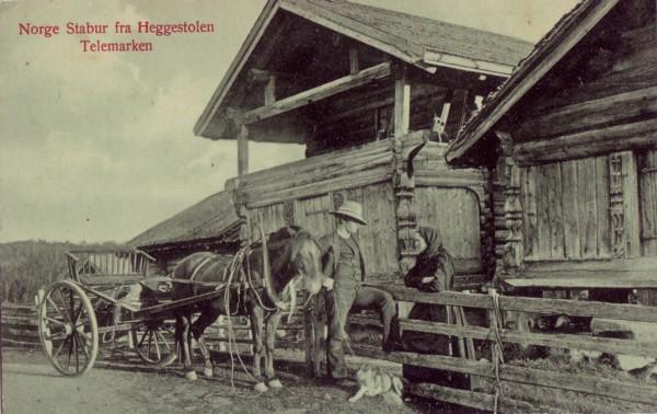 Norge Stabur fra Heggestolen Telemarken