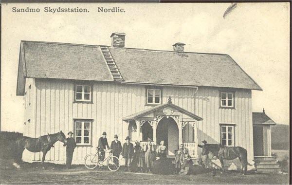 Sandmo Skydsstation. Nordlie.