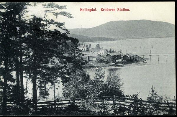 Hallingdal. Krøderen Station.